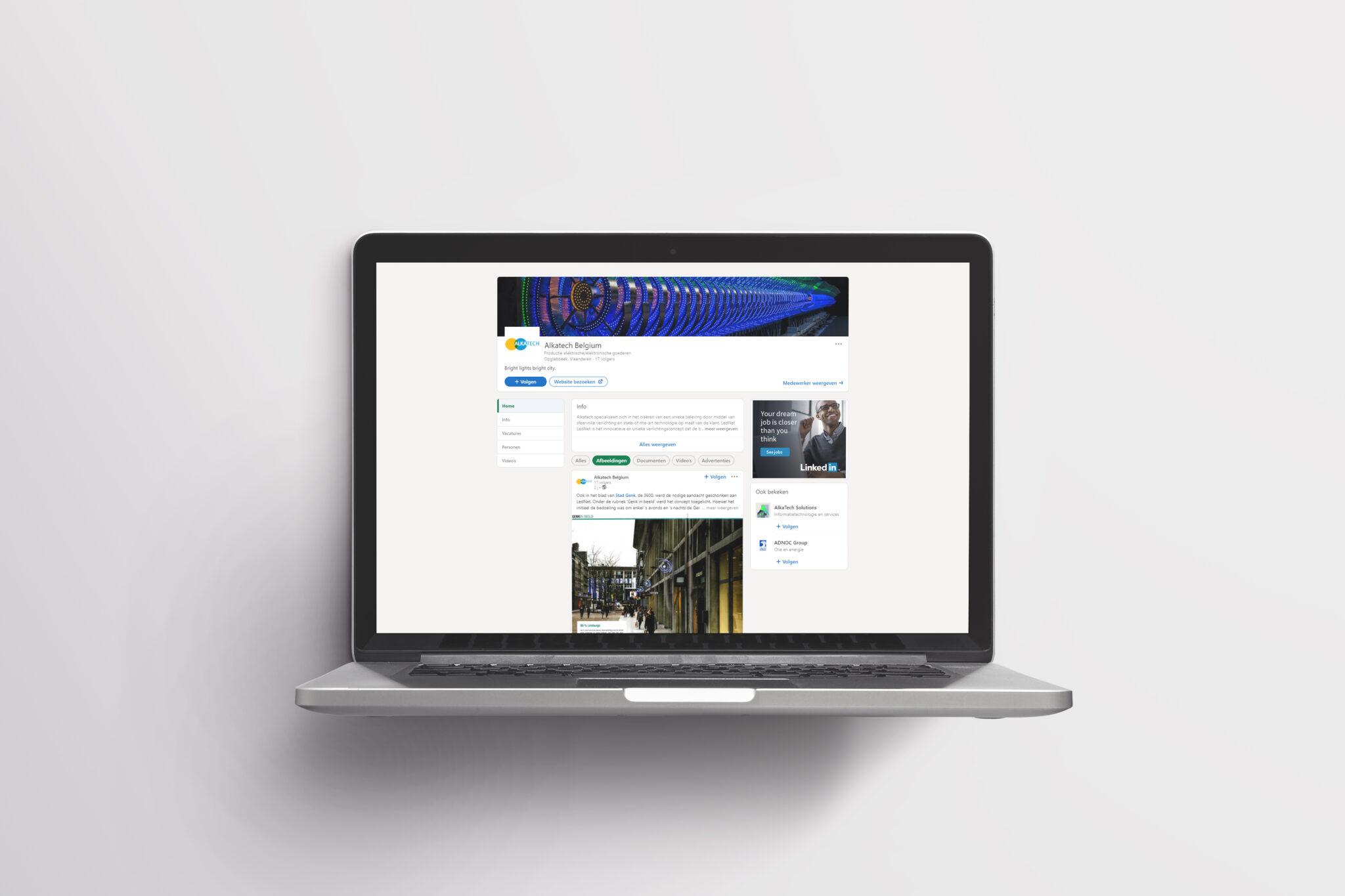 LinkedInpagina Alkatech