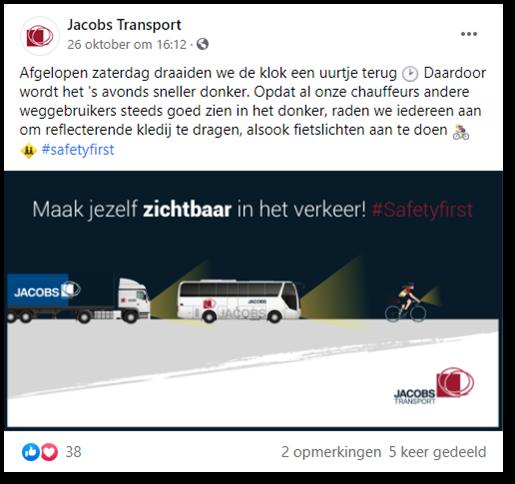 social media jacobs transport