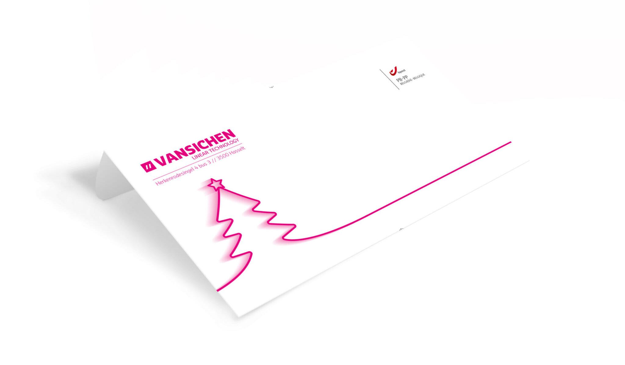 Envelop kerstkaart Vansichen Linear Technology