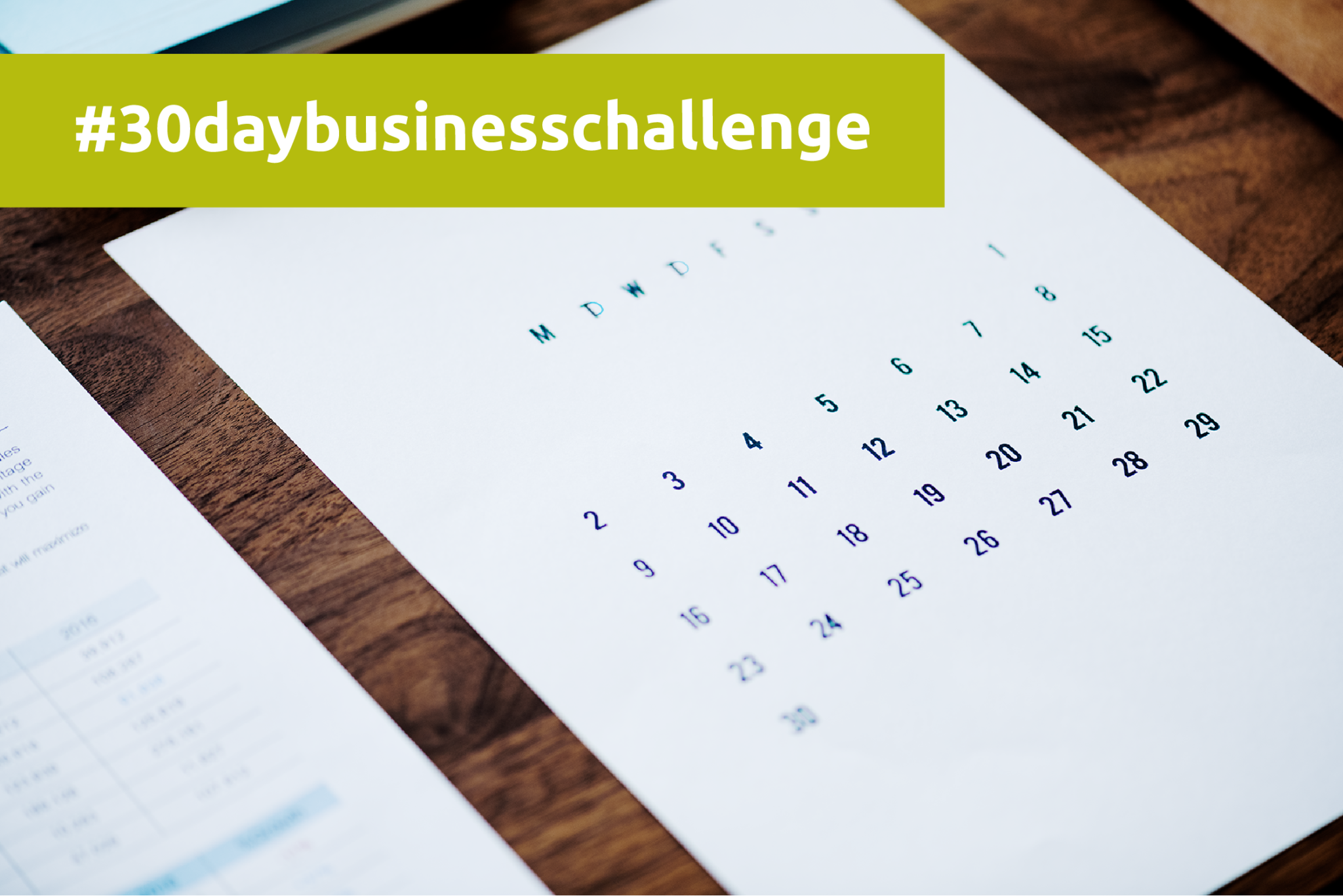 30 day business challenge kalender