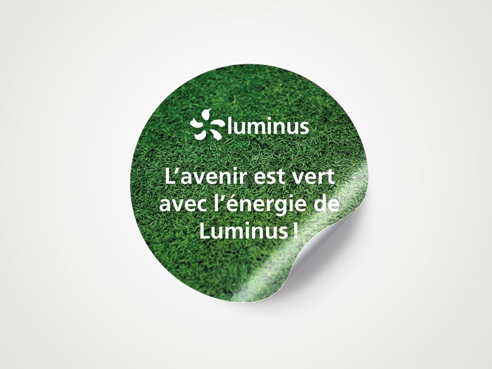 Vloersticker Luminus winkelactivatie