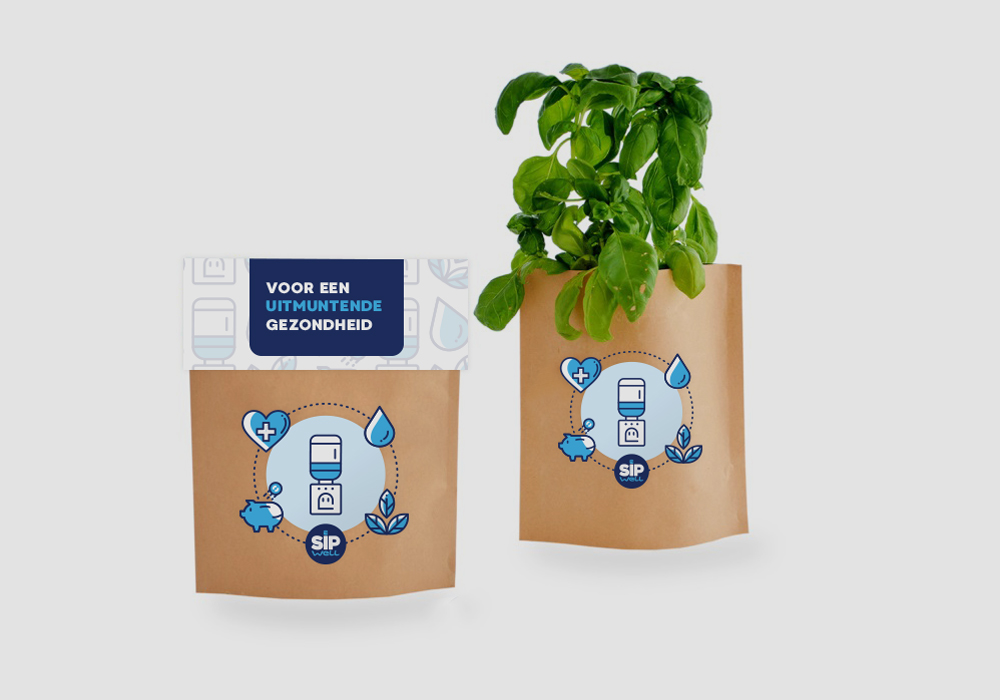 Sipwell direct mailing muntplantje