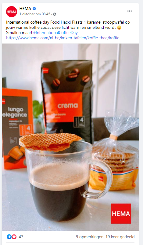 Inhaakkalender - hema - world coffee day