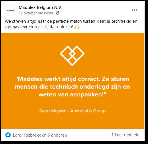 Madolex social media post
