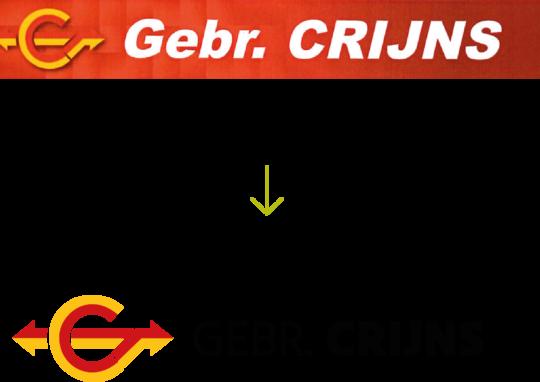 Gebroeders Crijns herwerking logo