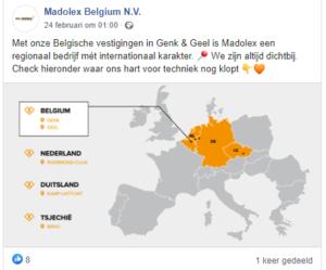 Online contentplan februari digitaal verhaal Madolex