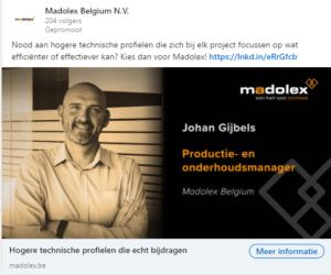 LinkedIn advertentie 1 Madolex