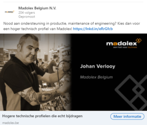 Madolex digitaal verhaal LinkedIn advertentie 2